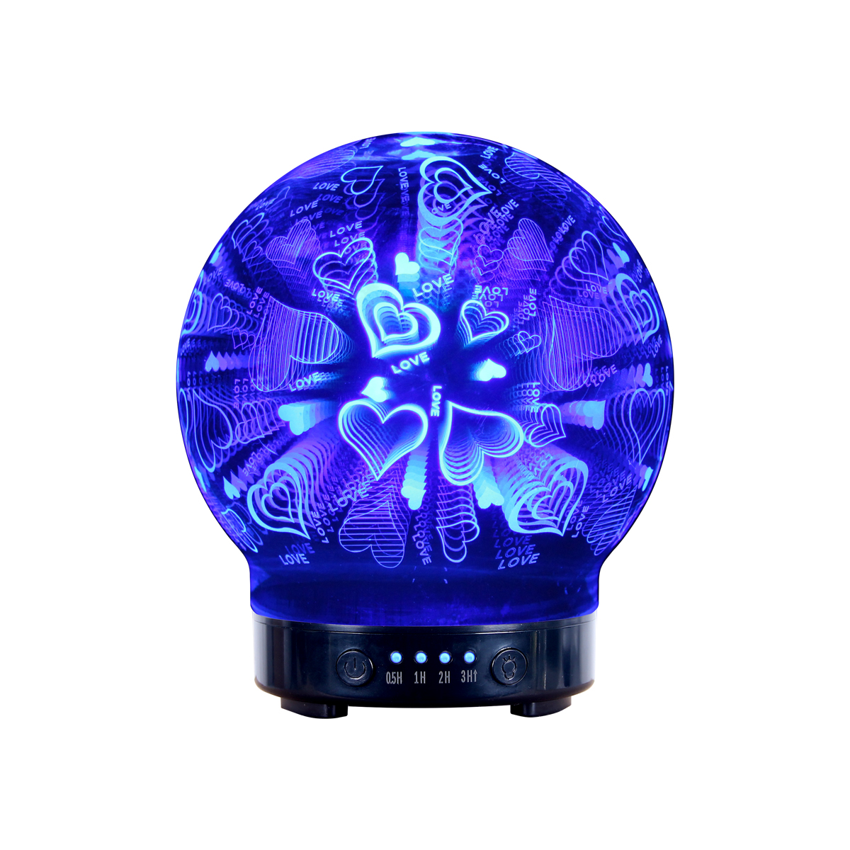 Hidly Hot Sale 3D Glass Aromatherapy Diffuser-H415