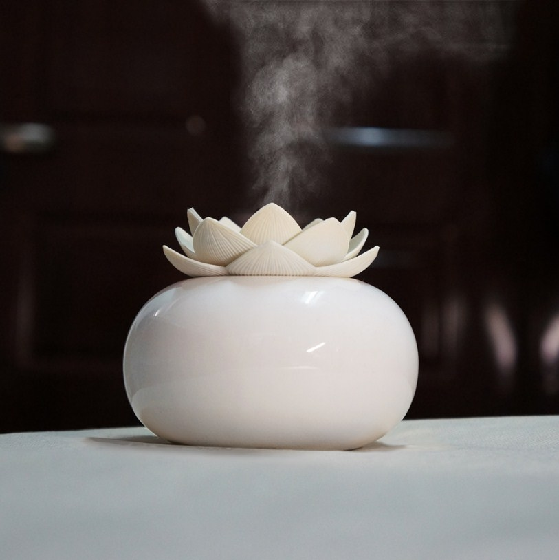 Lotus Ceramic Humidifier Diffuser - HSJ78 title=